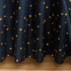 Navy Star Gathered Cotton Bed Skirt Size: King