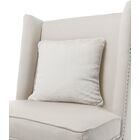 Luxe Solid Faux Fur Throw Pillow Color: Cream