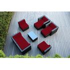 Ohana 9 Piece Sunbrella Sectional Set with Cushions Fabric: Sunbrella Jockey Red