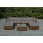Baril 7 Piece Sofa Set with Cushions Fabric: Sunbrella Taupe, Color: Mixed Brown