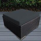 Baril Small Ottoman with Cushion Fabric: Dark Gray, Finish: Black
