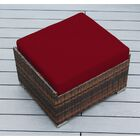 Baril Small Ottoman with Cushion Fabric: Red, Finish: Mixed Brown