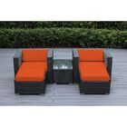 Baril 5 Piece Conservation Set with Cushions Fabric: Sunbrella Tuscan, Color: Black