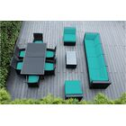 Ohana 14 Piece Sectional Set with Cushions Fabric: Turquoise, Color: Black