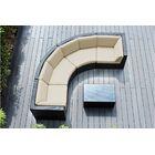 Popham 5 Piece Rattan Sunbrella Sectional Set with Cushions Cushion Color: Antique Beige