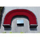 Popham 8 Piece Rattan Sunbrella Sectional Set with Cushions Cushion Color: Jockey Red