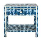Hermes End Table with Storage Color: Royal Blue