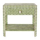 Ecliptic End Table with Storage Color: Pale Jade