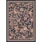 Pastiche Delphi Floral Ebony Rug Rug Size: Oval 5'4