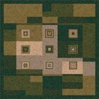 Pastiche Bloques Deep Olive Rug Rug Size: Rectangle 5'4