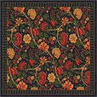 Pastiche Vachell Floral Ebony Area Rug Rug Size: Round 7'7