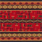 Pastiche Wide Ruins Red Area Rug Rug Size: Rectangle 5'4