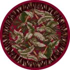 Signature Jungle Fever Ruby Area Rug Rug Size: Round 7'7