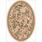 Pastiche Delphi Floral Sand Brown Rug Rug Size: Oval 7'8