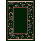 Design Center Emerald Intermission Area Rug Rug Size: Runner 2'4