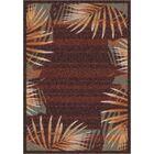 Modern Times Palm Dark Chocolate Area Rug Rug Size: Rectangle 7'8