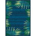 Modern Times Palm Blue Grey Area Rug Rug Size: Rectangle 5'4
