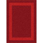 Modern Times Bailey Tapestry Red Area Rug Rug Size: Round 7'7