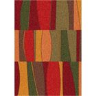 Modern Times Red Area Rug Rug Size: Rectangle 7'8