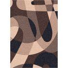 Modern Times Element Dark Brown  Area Rug Rug Size: Rectangle 5'4