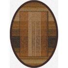 Modern Times Aspire Dark Chocolate Area Rug Rug Size: Oval 3'10