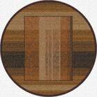Modern Times Aspire Dark Chocolate Area Rug Rug Size: Round 7'7