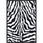 Black & White Zebra Glam Black Ink Area Rug Rug Size: Rectangle 7'8