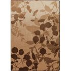 Mix and Mingle Pottery Brown Nature's Silhouette Rug Rug Size: Rectangle 7'8