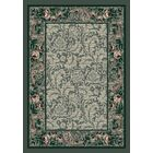 Innovation Aqua Rose Damask Area Rug Rug Size: Rectangle 10'9