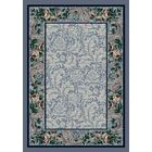 Innovation Lapis Rose Damask Area Rug Rug Size: Oval 3'10