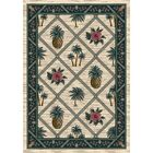 Signature Palm Bay Pearl Area Rug Rug Size: Oval 3'10