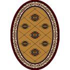 Signature Shiba Garnet Area Rug Rug Size: Oval 5'4