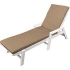 Indoor/Outdoor Sunbrella Chaise Lounge Cushion Fabric: Sesame, Size: 22