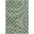 Heath Blue/Ivory Indoor/Outdoor Area Rug Rug Size: Rectangle 6'7