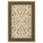 Knighten Ivory/Black Area Rug Rug Size: Rectangle 9'10