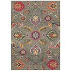 Belmonte Boho Flowers Gray Area Rug Rug Size: Rectangle 7'10