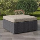 Killingworth Outdoor Ottoman with Cushion Frame Color: Distressed Charcoal Gray, Cushion Color: Mushroom Gray