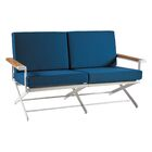 Ricky Loveseat with Cushions Fabric: Blue