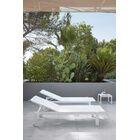 Santistevan Reclining Chaise Lounge Color: Brillant Blanc