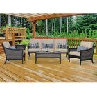 Bently 5 Piece Sofa Set with Cushions