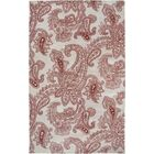 Floral Hand-tufted Wool Beige/Red Area Rug Rug Size: Rectangle 8' x 10'