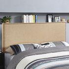 Ragnar Upholstered Foam Panel Headboard Size: Queen, Upholstery: Gray