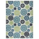 Lucia Ivory/Green/Blue Indoor/Outdoor Area Rug Rug Size: Rectangle 5'3