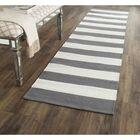 Skyler Hand-Woven Cotton Gray/Ivory Area Rug Rug Size: Runner 2'3