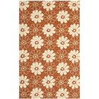 Hayes Rust/Ivory Outdoor Area Rug Rug Size: Rectangle 3'6