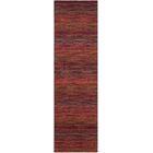 Sherri Red Stripe Area Rug Rug Size: Runner 2'3