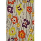 Nanette Light Grey / Purple Floral and Plant Rug Rug Size: Rectangle 8' x 11'2