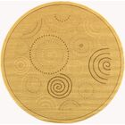 Mullen Geometric Circles Outdoor Rug Rug Size: Round 6'7