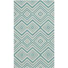 Charla Ivory & Light Teal Area Rug Rug Size: Rectangle 7'3
