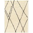 Minerva Hand-Tufted Ivory/Black Area Rug Rug Size: Rectangle 5' x 7'